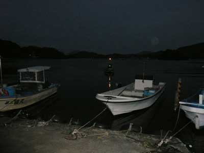 2008年11月22日(土)舞鶴は吉田の筏より夕刻に帰港です