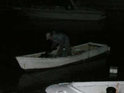 2008年11月22日(土)舞鶴は吉田の筏よりカセ釣りで最終に帰港です