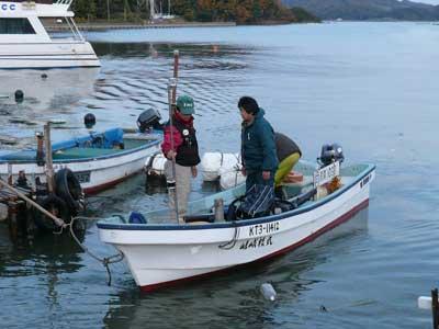 2008年11月22日(土)舞鶴は吉田の筏より2組目の方々が帰港です