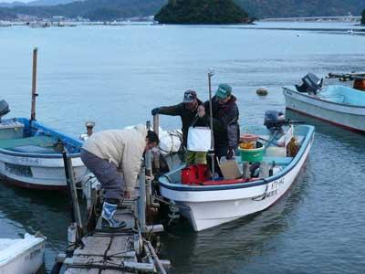 2008年11月22日(土)舞鶴は吉田の筏より3組目の方々が帰港です