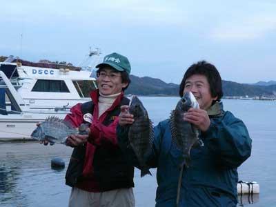 2008年11月22日(土)釣れた方の記念撮影をされていました