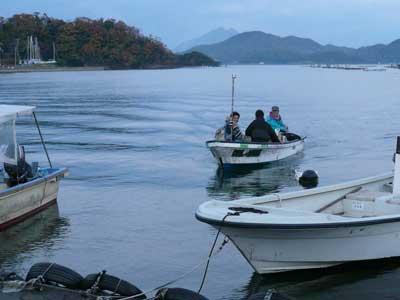 2008年11月23日(日)舞鶴は吉田の筏より夕刻に帰港です