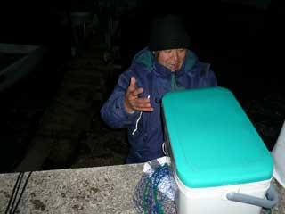 2008年12月7日(日)釣りに来られたお客さんは、通称「ヒグチ様」です
