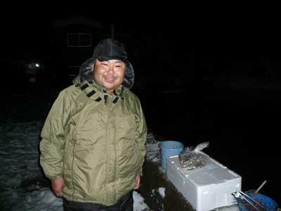 2009年1月11日(日)京都市内より舞鶴の吉田に釣りに来られた狩野様です