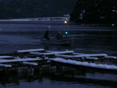 2009年1月11日(日)國丸渡船さんが釣り客と共に夕刻に帰港です