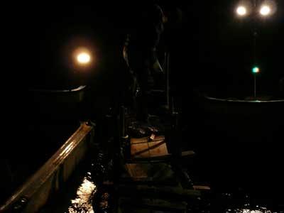 2009年1月18日(日)スカリを持ち上げた様子で良型の釣果である事を確認できました