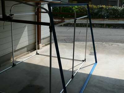 2009年4月25日(土)固定枠と簡易テントをGW中に筏へ持って行き設置する予定です