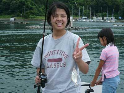 2009年8月15日(土)二番目のお姉さんもやっと釣れました