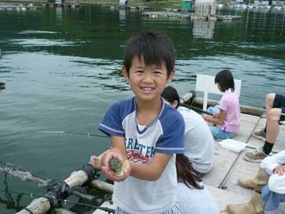 2009年8月15日(土)一番多く釣ったのは無邪気な末っ子でした