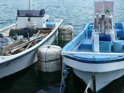 2009年10月11日(日)筏に使用していました発砲スチロールを半分に切りクッションを作りました