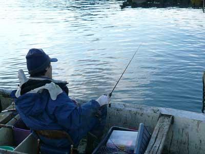 2010年1月17日(日)常連でカセ釣りが好きな方が筏へ来られました