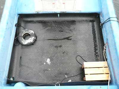 2010年11月23日(火)寸法を測りゴムマットをカットして敷き詰めました